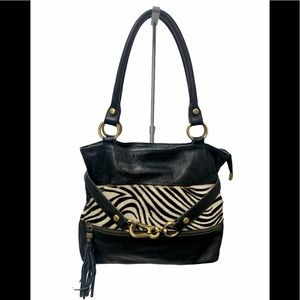INNUE Calf Hair Leather Shoulder Bag Made in Italy